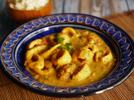 Curry d'encornets au lait de coco