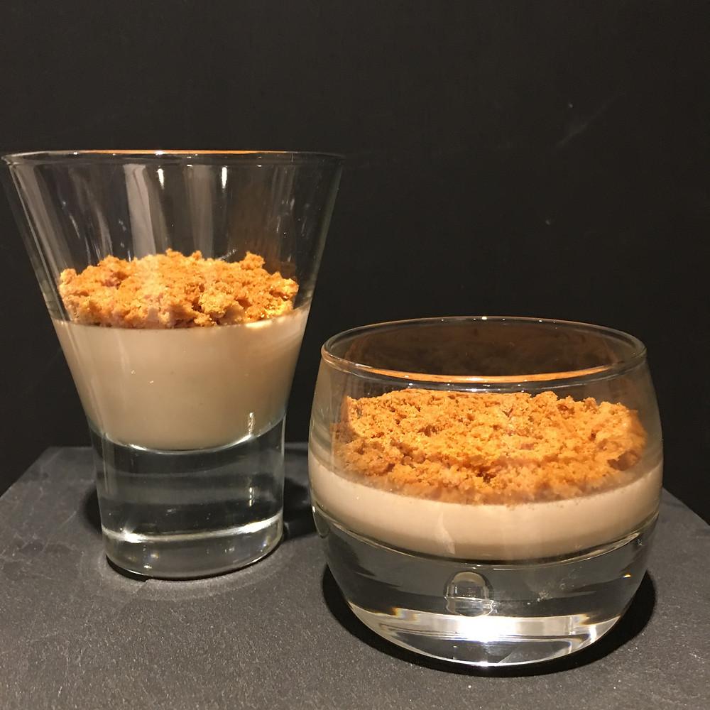Crème au foie gras et son crumble de spéculoos