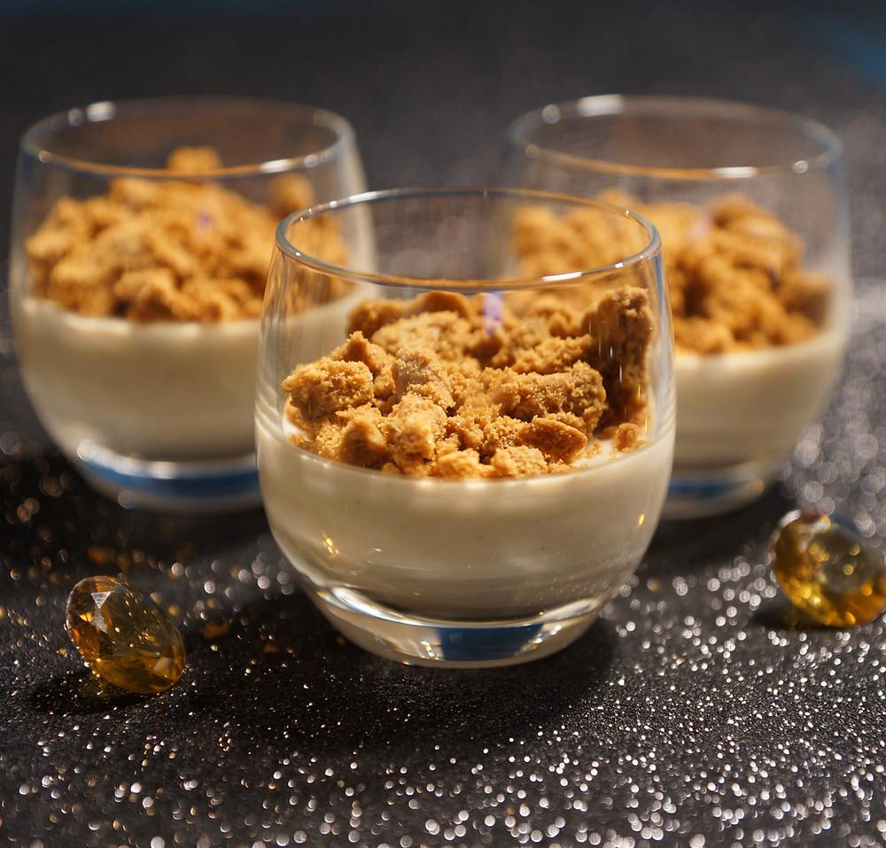Crème au foie gras et son crumble de speculoos