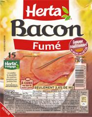 Les tranches de bacon fumé