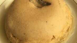 Bowlcake semoule de riz, banane et coeur coulant choco-amandes