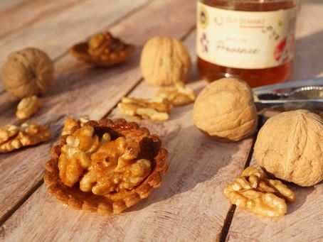 Mini-tartelettes noix/miel