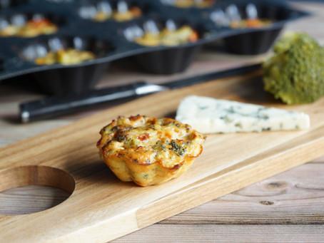 Flans brocolis/roquefort