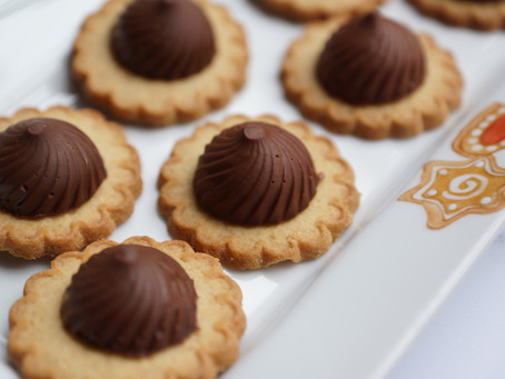 Tourbillon de chocolat sur son sablé