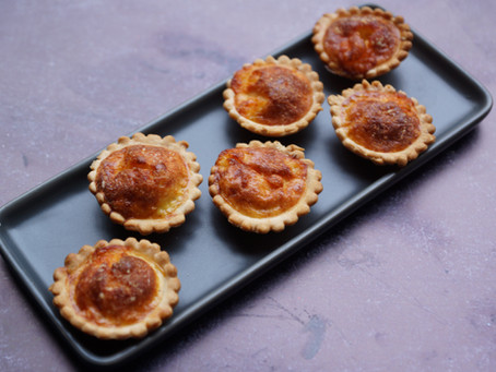 Mini-quiches mozza/parmesan
