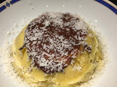 Bowlcake semoule banane/chocolat/coco