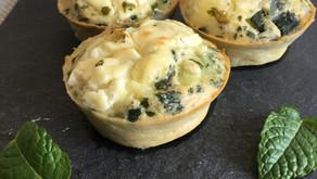 Muffins feta/courgette/menthe fraîche
