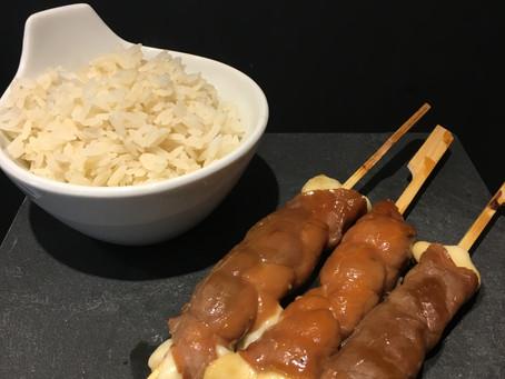 Brochettes yakitori boeuf/fromage