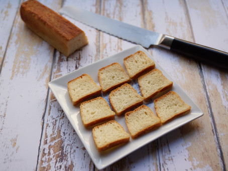 Mini-toasts de pain de mie