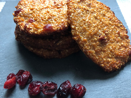 Biscuits au quinoa et cranberries