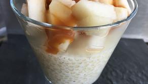 Perles du Japon, poire, caramel beurre salé