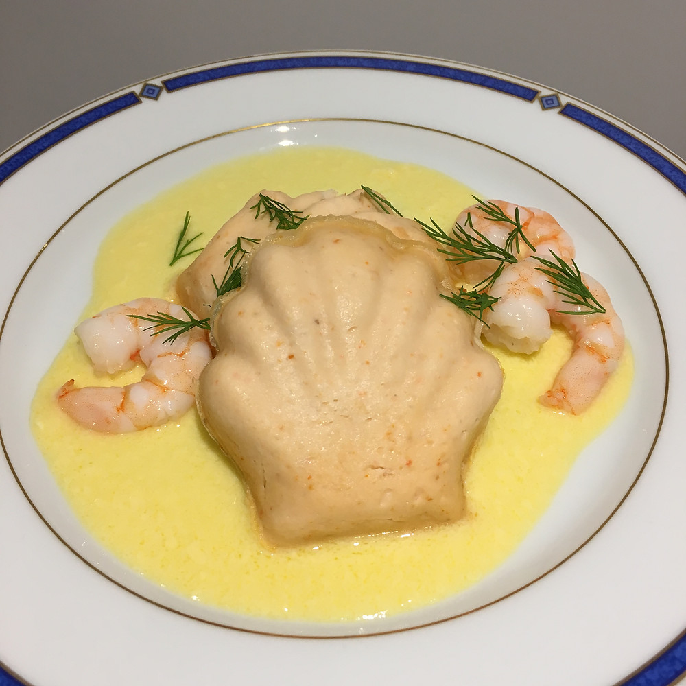Mousse de saumon sauce hollandaise allégée