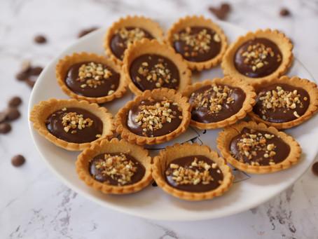 Mini-tartelettes chocolat/pralin