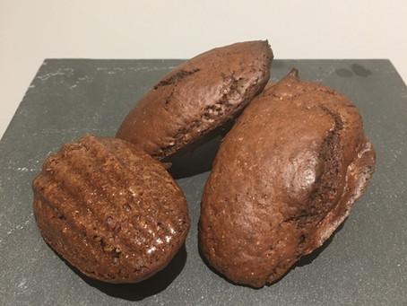 Madeleines légères chocolatées