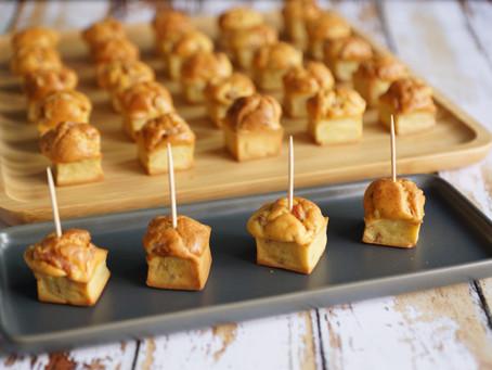 Petites bouchées bacon/parmesan