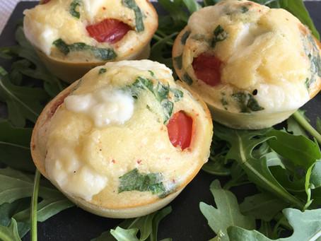 Muffins façon tomates/mozzarella