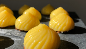 Petits tourbillons au citron sur sablés