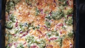 Gratin brocolis/bacon
