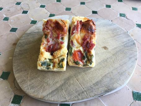 Mini-quiches sans pâte chèvre/bacon/tomates cerises