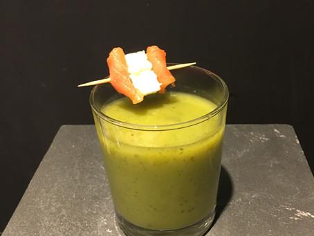 Gaspacho de concombre à la menthe