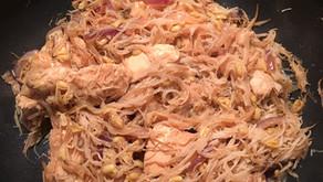 Poulet à la japonaise et ses vermicelles de riz