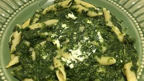 One pot pasta chèvre/épinards