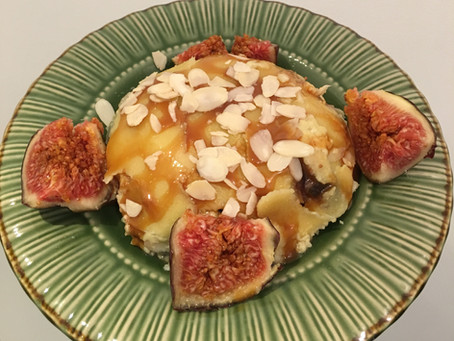 Bowlcake semoule figues/amandes/caramel