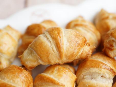 Mini-croissants jambon/béchamel