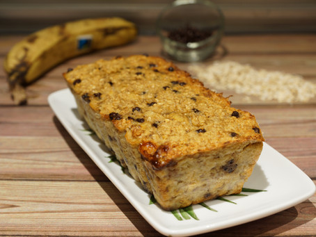 Cake bananes/flocons d'avoine/Chocolat