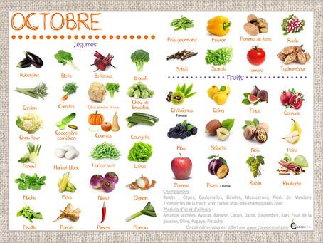 Fruits et légumes du mois d'octobre