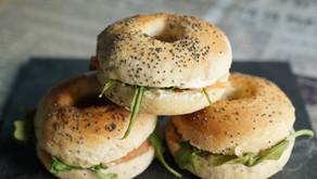 Mini-bagels au saumon fumé et fromage frais