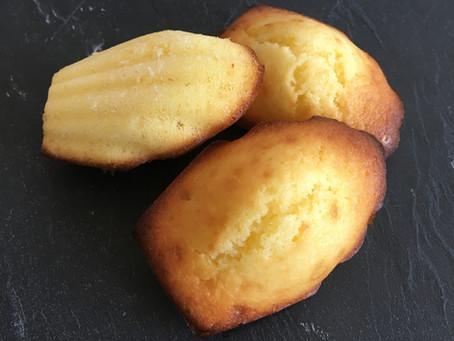 Madeleines légères au citron