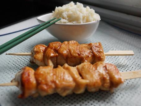 Brochettes yakitori poulet