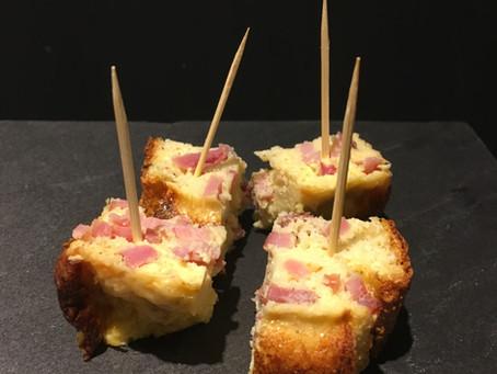 Cake bacon/parmesan