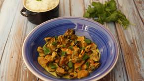 Curry de moules au lait de coco