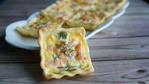 Mini-quiches saumon/poireaux