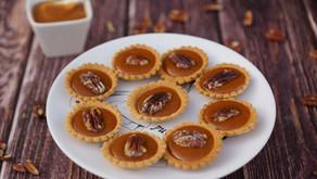Mini-tartelettes caramel beurre salé/noix de pécan