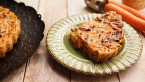 Quiche sans pâte carottes/bacon/oignons