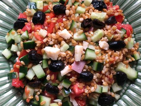Salade composée au petit épeautre