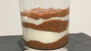 Crème mousseuse aux deux chocolats