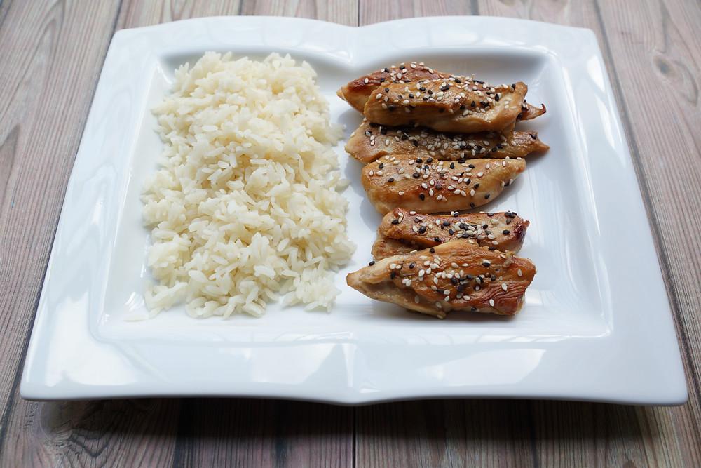 Poulet sauce soja et miel