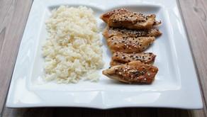 Poulet sauce soja et miel - riz