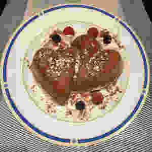 Coeurs entrelacés au chocolat