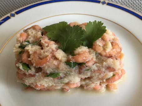 Pressé de crabe et crevettes