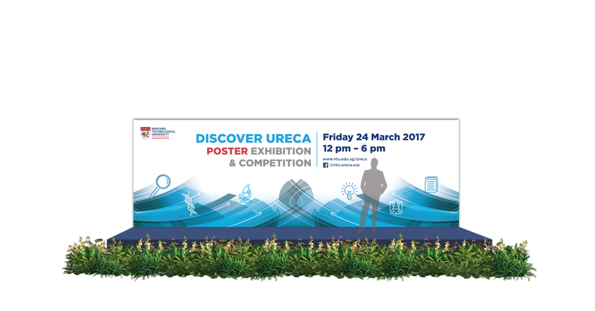 NTU Discover URECA Poster Exhibition Stage Backdrop