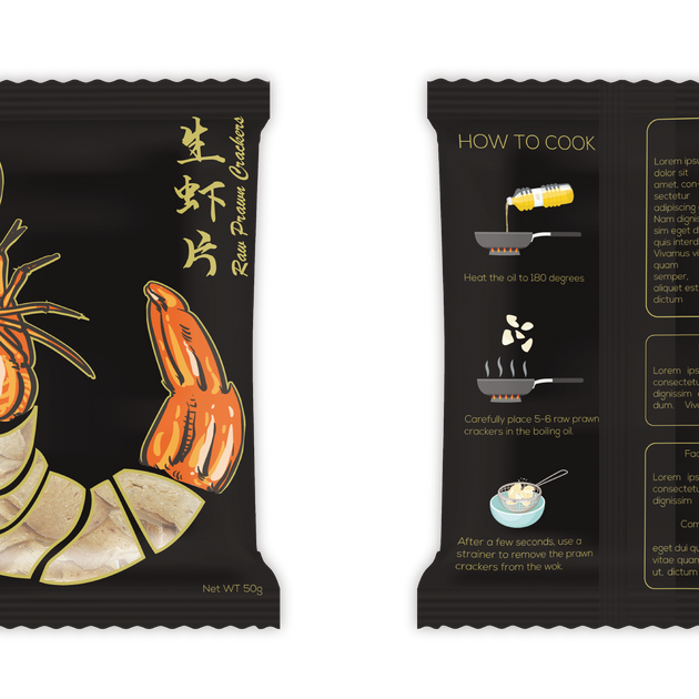 Fish Cracker Design - Black