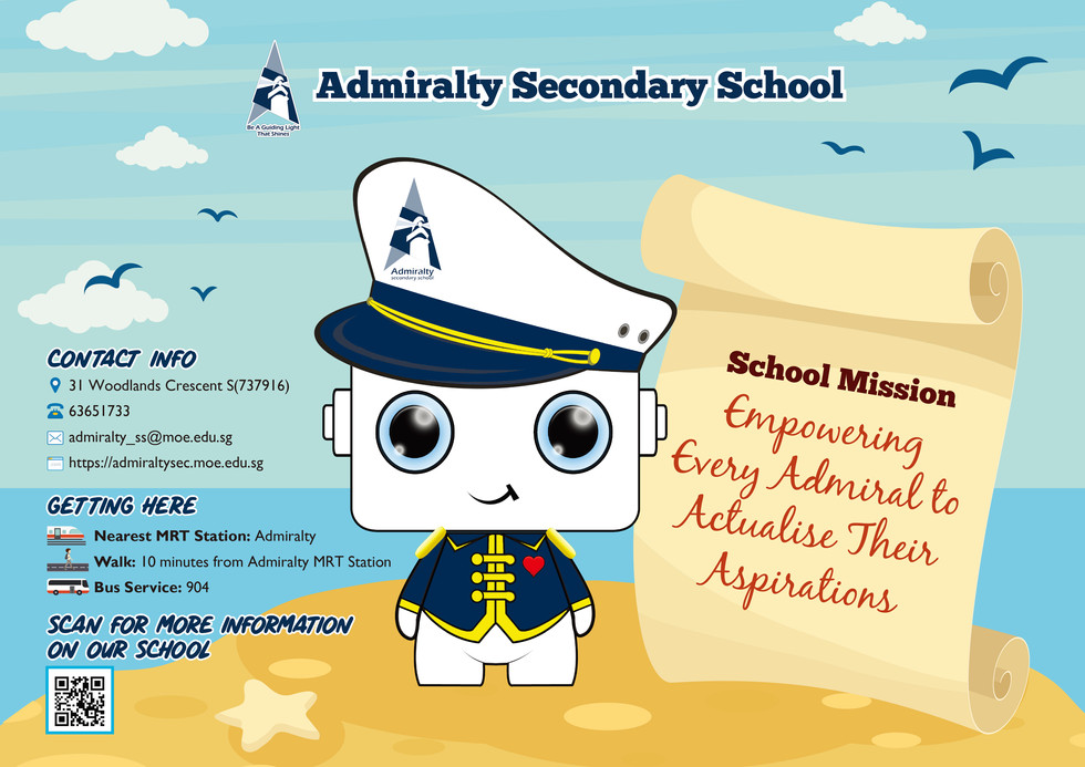 Admiralty Secondary School poster front.