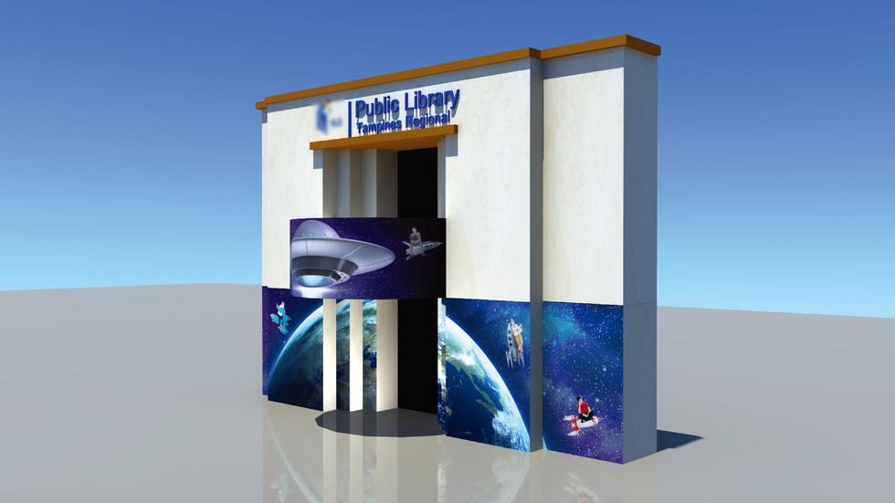 Tampines Regional Library Creative Wall Mural 2