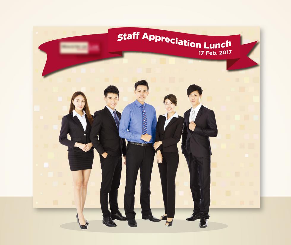 Staff Appreciation Lunch Photo Wall