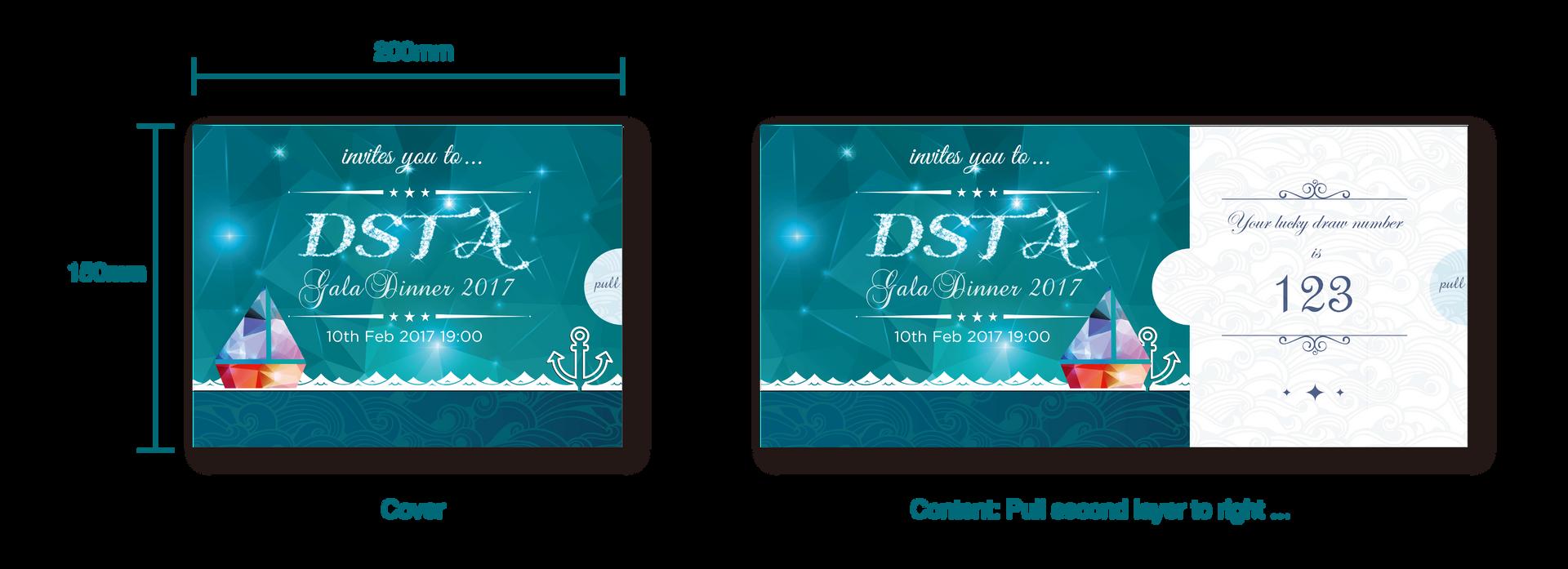 Dinner & Dance Invitation Card